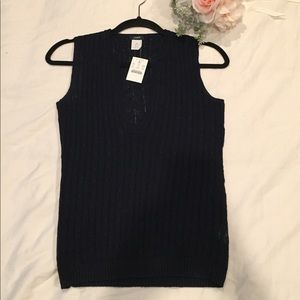 J.Crew Linen tank top deep v-neck. NWT!